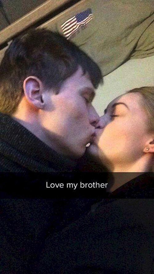 love my brother kiss snapchat