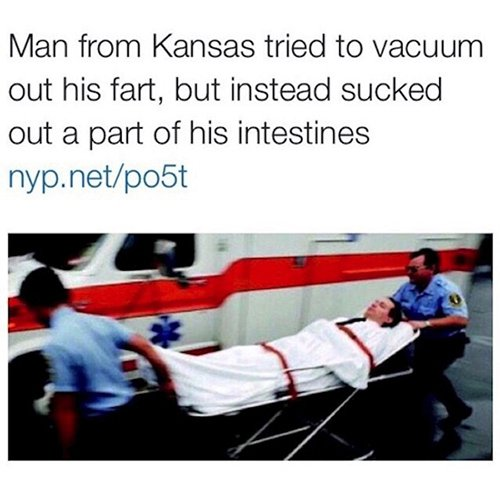 man from kansas tried to vacuum his fart