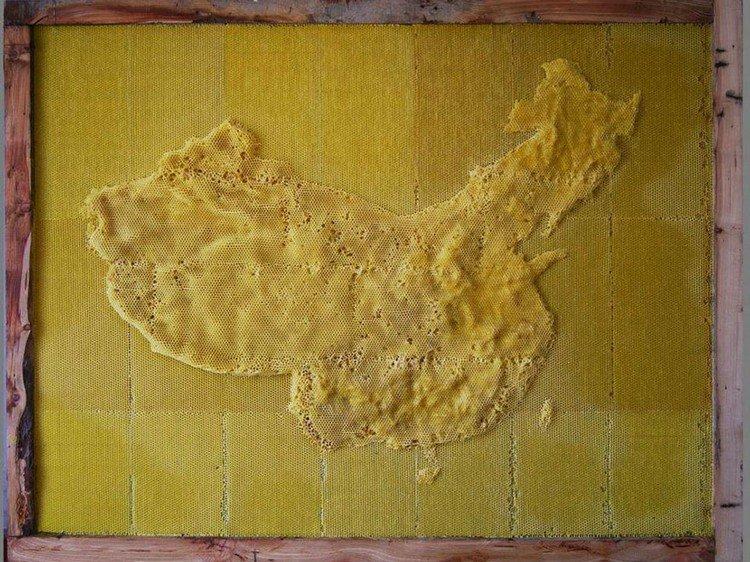 map of china honeycomb