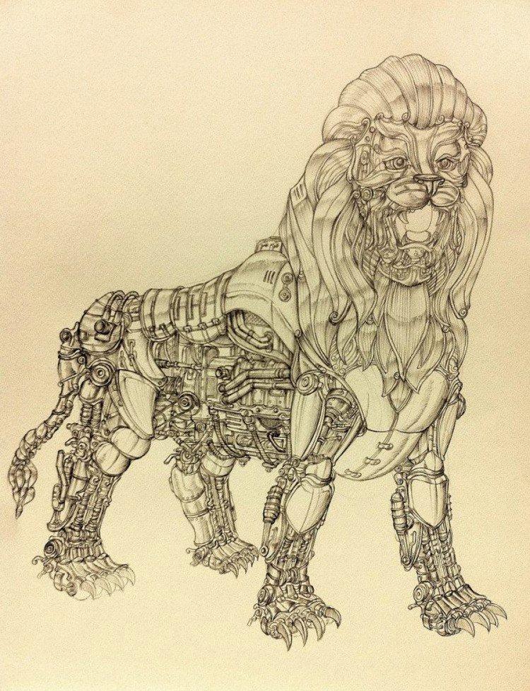 metal mane lion