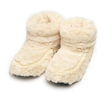 microwavable boot slippers cream