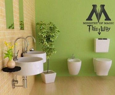 ministry of magic decal bathroom