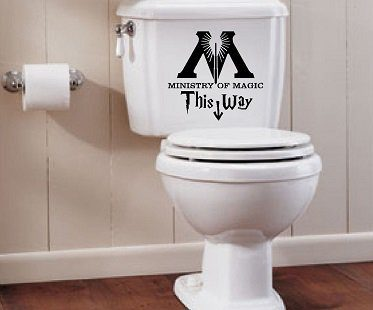 ministry of magic decal toilet
