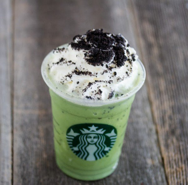 mint choc chip frappuccino