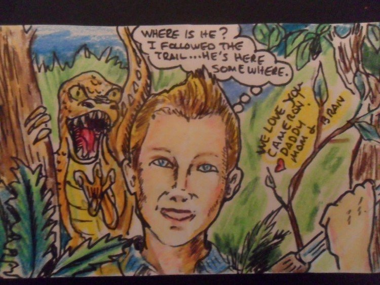 note dinosaur boy