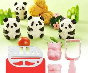 panda rice ball mold