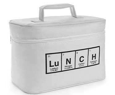 periodic table lunch bag white