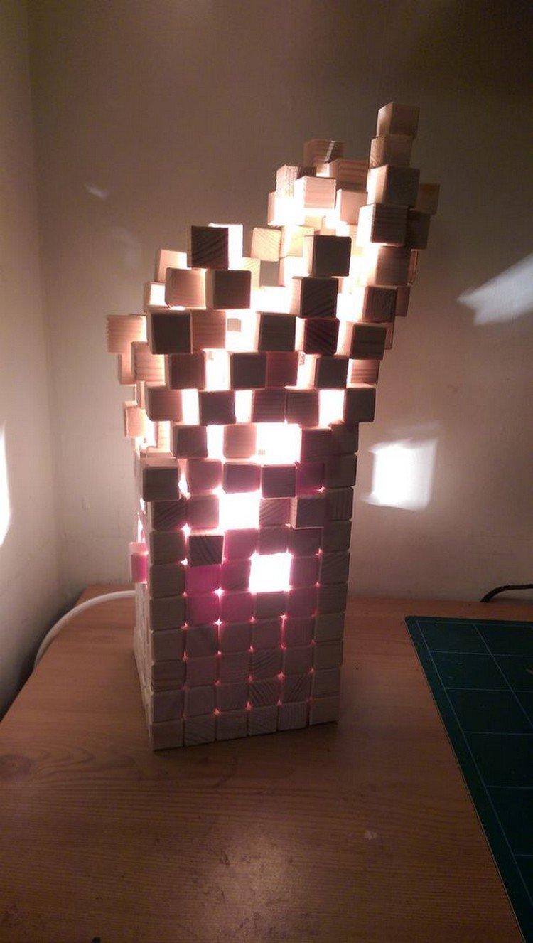 pixel lamp lit