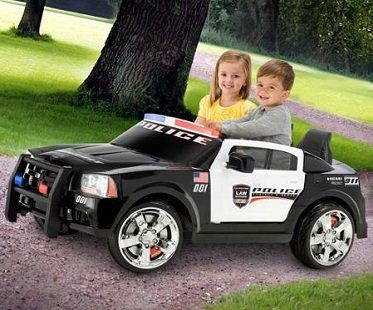 police battery car