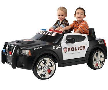 police battery car kid trax