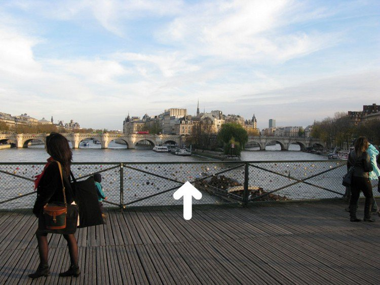 pont paris dead drop arrow