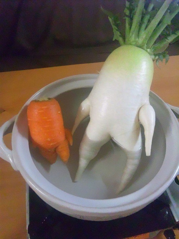 radish carrot bath