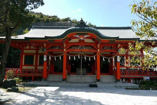 red shrine facade
