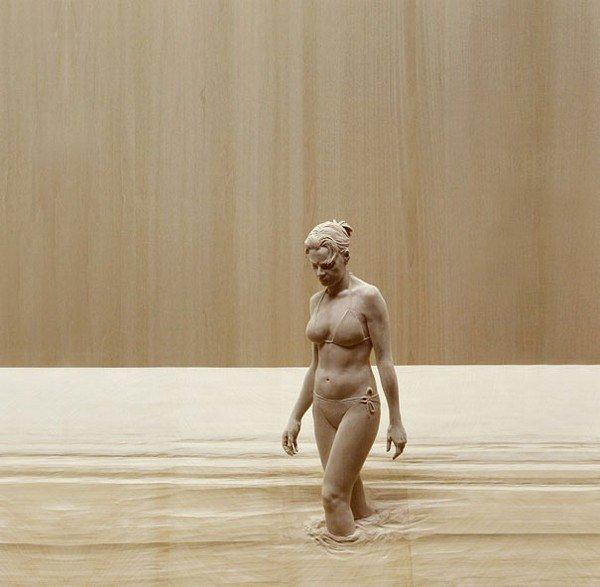 sculpture woman bikini
