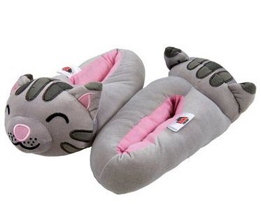 soft kitty slippers big bang theory grey
