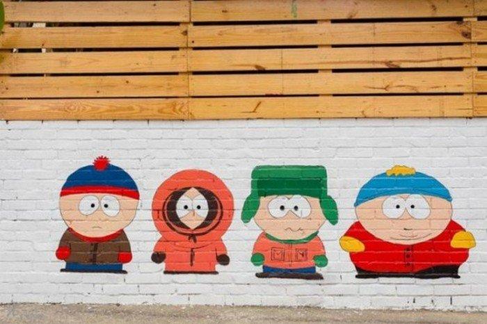 southpark mural