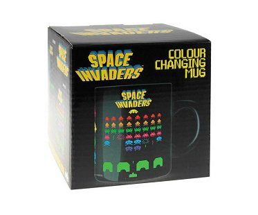 space invaders heat changing mug box