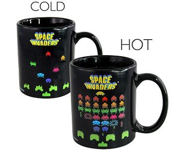 space invaders heat changing mug game