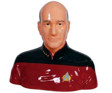 star trek captain picard cookie jar