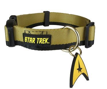 star trek dog collar gold