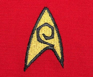 star trek uniform apron badge