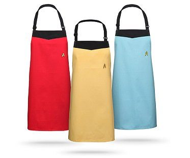 star trek uniform apron colours