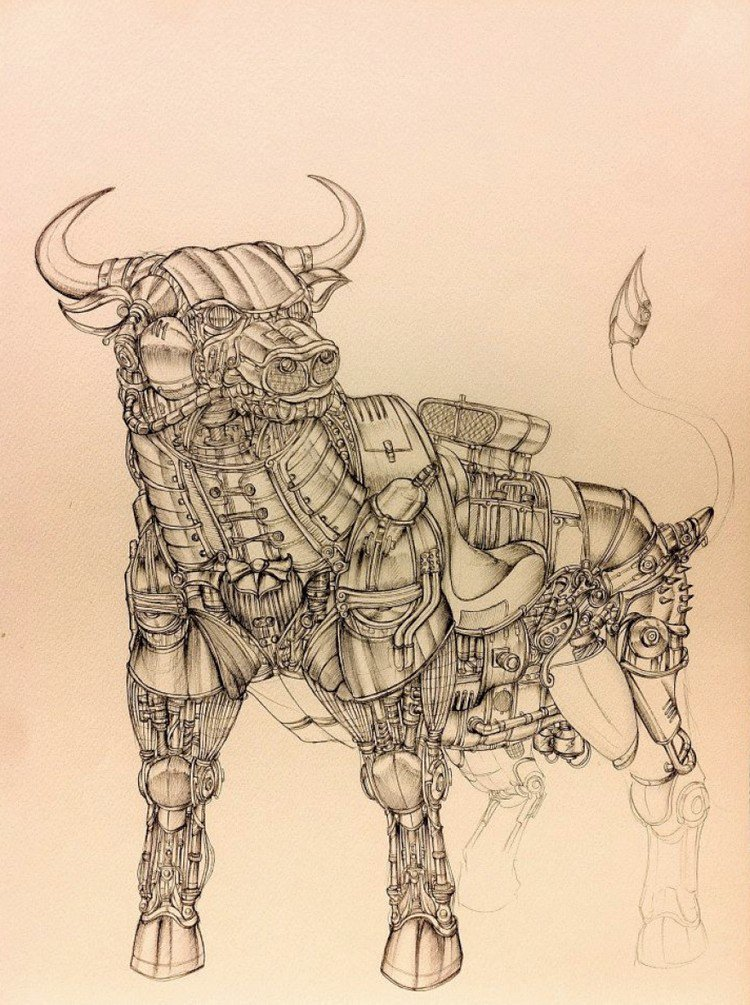 steampunk bull