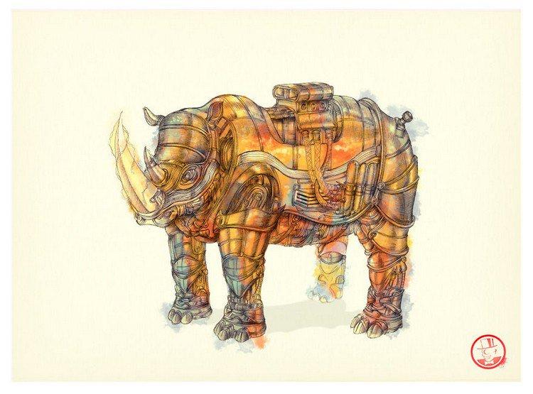 steampunk tesla rhino