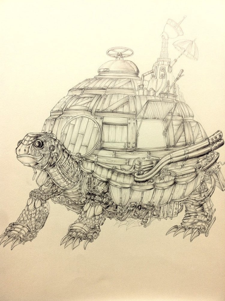 Artist Marco Ryan Draws Awesomely Detailed Ballpoint Pen