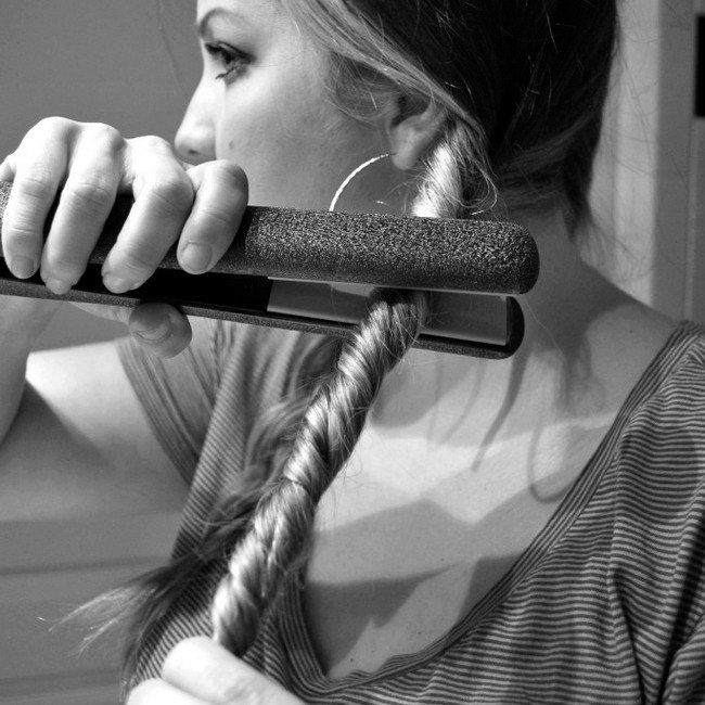 straighteners twisted hair