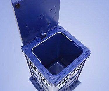 tardis waste basket inside