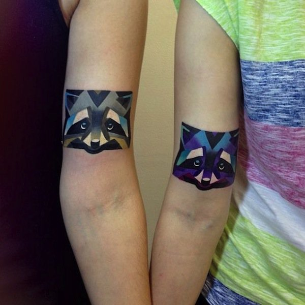 tattoo-racoons