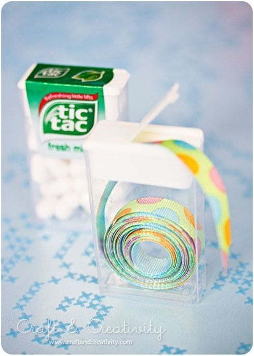 tic-tac-container-ribbon-holders