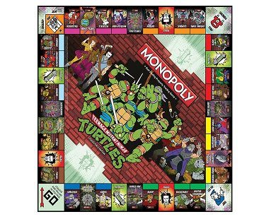 tmnt monopoly game board