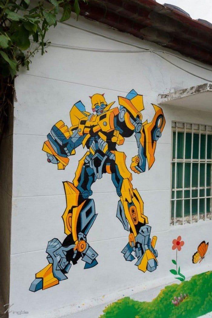 transformer mural