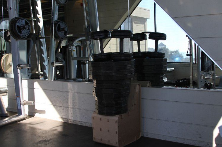 weights on chair