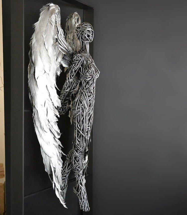 wire angel silver wings