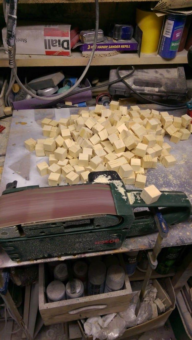 wooden blocks sander