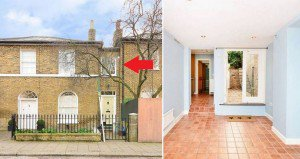 8Ft Wide House london