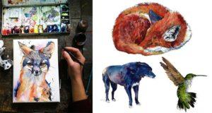 Animal Watercolors art