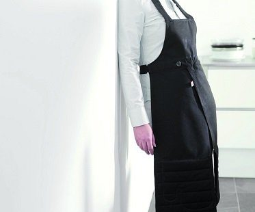 Apron With Built-In Oven Gloves black