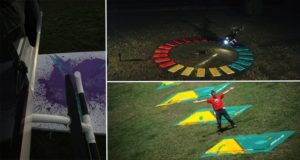 Artist Uses Helicopter To Create Paintings