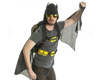 Batman Costume Backpack hood