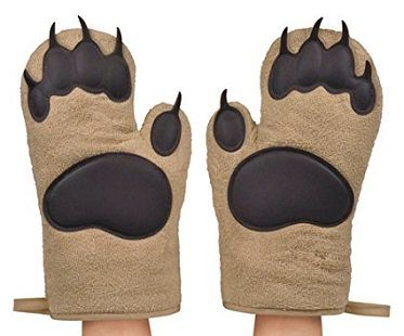 Bear Hands Oven Mitts pair