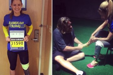 Boston Bombing Survivor Runs Marathon