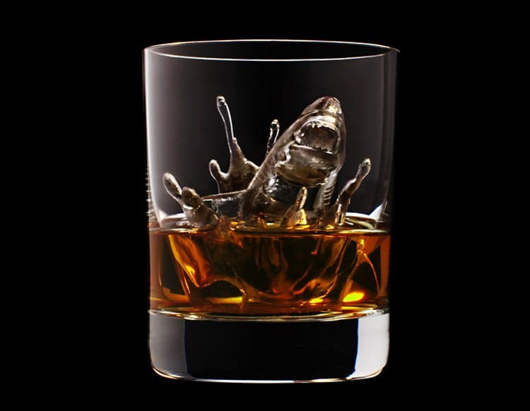 CNC-milled-ice-cubes-shark