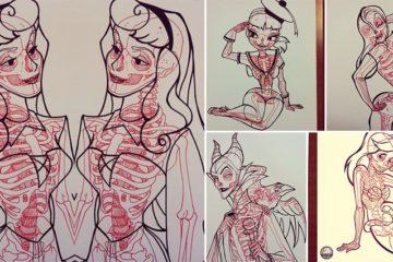 Cartoon Character x-ray