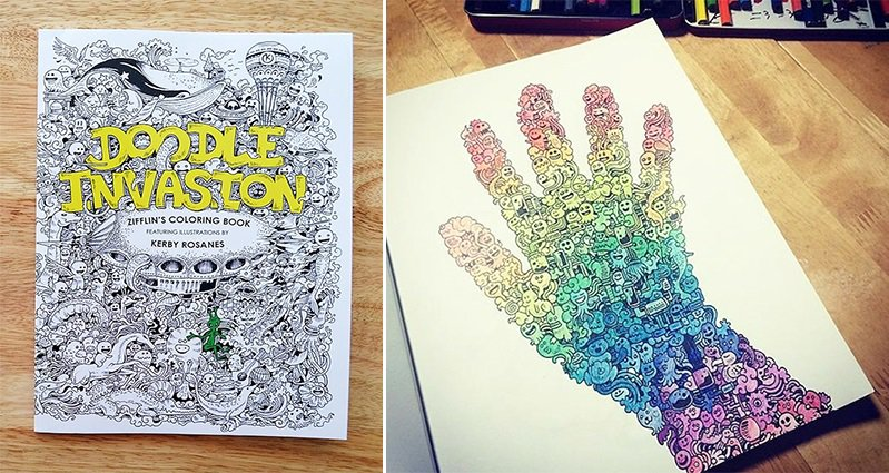Artist Kerby Rosanes Presents \'Doodle Invasion\' The Awesome ...