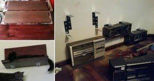 DIY Cat Storage Shelves