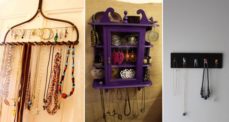 DIY Organizing Jewelry